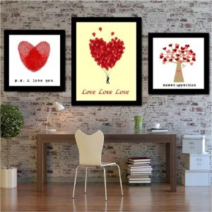 Triptych-Romantic-Elegant-Red-Heart-Love-Tree-Valentine-s-Day-Gifts-Unfinished-Pure-Hand-Made-Cross 2
