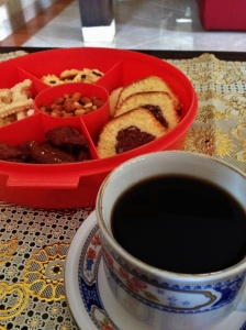 Toraja coffee and traditional snack.