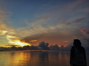 stunning sunset at selayar