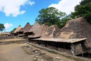 Rumah di Desa Bena, Bajawa, Flores.