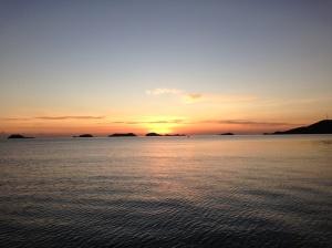 warm sunrise at Riung, Flores