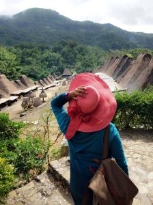 Dari puncak bukit di Desa Bena.